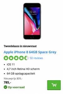 iPhone 8 tweedekans CoolBlue