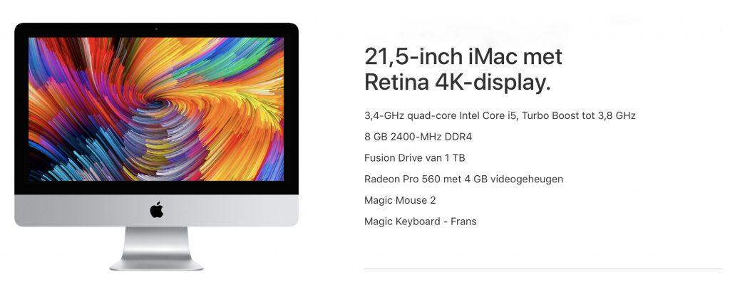 Aankoopadvies 21 inch iMac