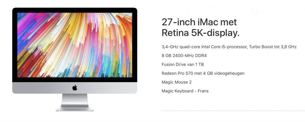 Aankoopadvies 27 inch iMac